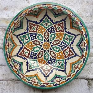 Marokkansk keramikfad, 40 cm i dia. - Bernadette