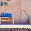Håndlavet marokkansk skammel / bænk