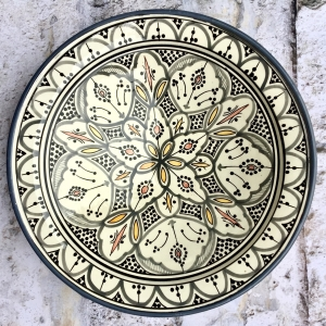 Marokkansk keramikfad 35 cm i dia. - Arianna