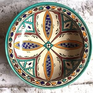 Marokkansk keramikfad 25 cm i dia - Manon