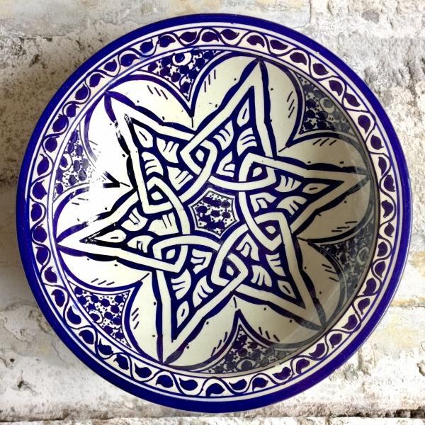 Marokkansk keramikfad 25 cm i dia - Madison