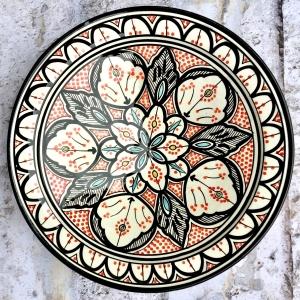 Marokkansk keramikfad 35 cm i dia. - Paola