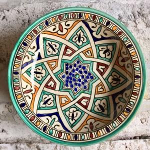 Marokkansk keramikfad 25 cm i dia - Anaïs
