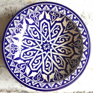 Marokkansk keramikfad 25 cm i dia - Frederica