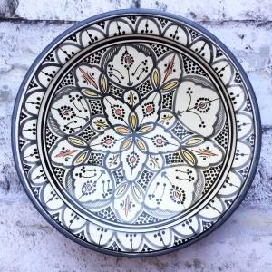 Marokkansk keramikfad 35 cm i dia. - Amelia