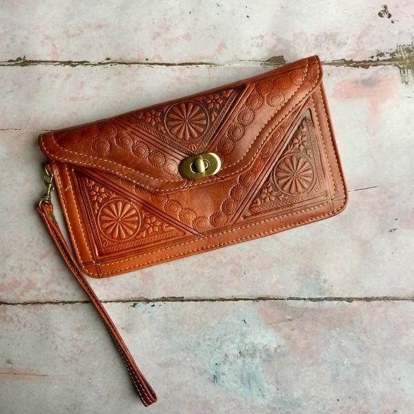 Marokkansk læder clutch/pung - Roshani