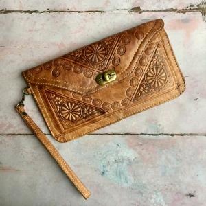 Marokkansk læder clutch/pung - Anahita