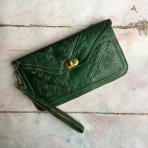 Marokkansk læder clutch/pung - Simin