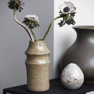 Nature vase, H 20 cm, lysegrøn