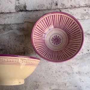 Marokkansk keramikskål - Fabiola, fra 25 cm i dia.
