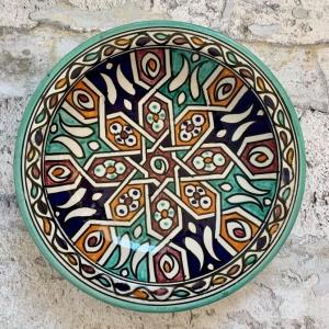 Marokkansk keramikfad 25 cm i dia - Lauren