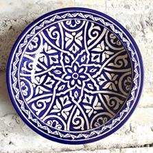 Marokkansk keramikfad 35 cm i dia. - Mashia