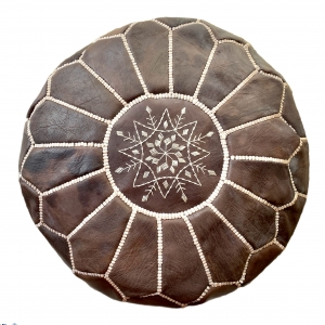 Marokkansk læderpuf - Afia