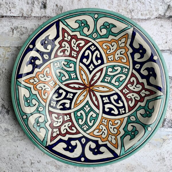 Marokkansk keramikfad 35 cm i dia. - Melanie