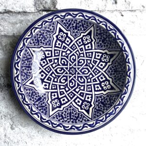 Marokkansk keramikfad 35 cm i dia. - Betty