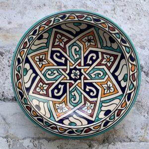Marokkansk keramikfad 25 cm i dia - Lisa