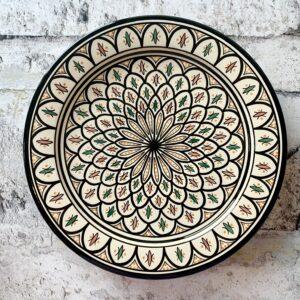 Marokkansk keramikfad 35 cm i dia. - Poppy
