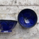 Marokkanske håndlavede skåle, sælges i sæt af 2 stk. - Blue