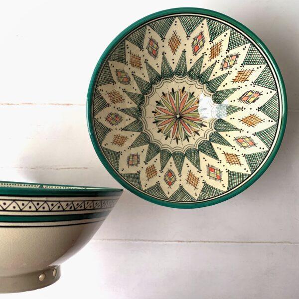 Marokkansk keramikskål - Astrid, fra 25 cm i dia.