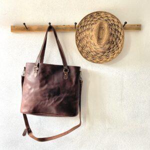 Håndlavet lædertaske - Gabriella