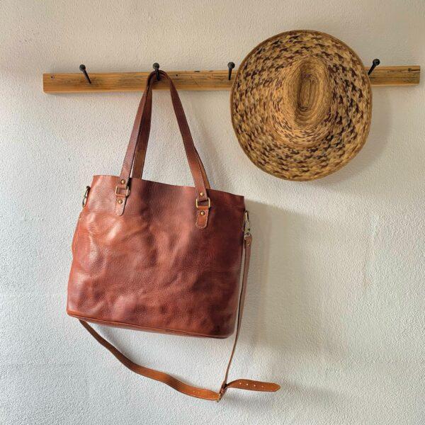 Håndlavet lædertaske - Stella