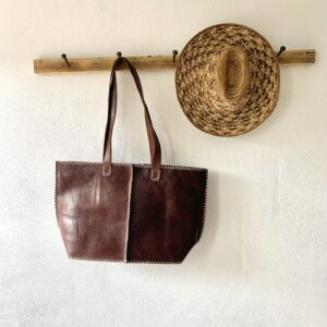 Håndlavet lædertaske - Claire