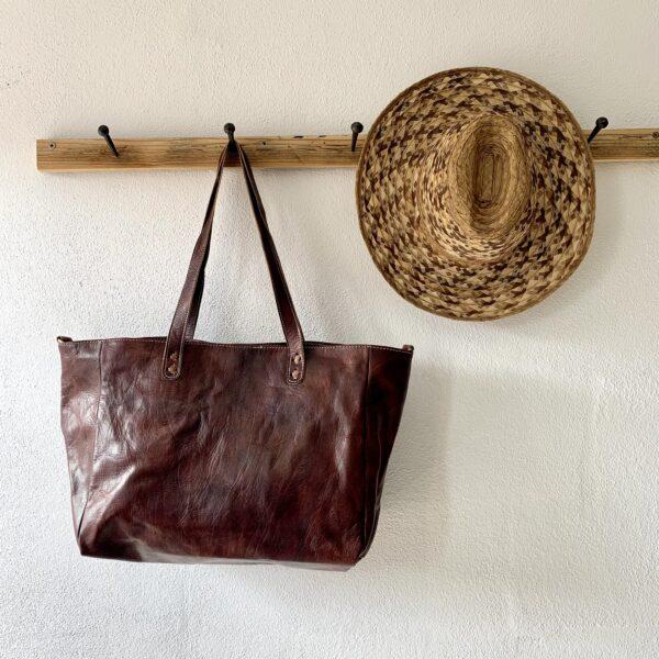 Håndlavet lædertaske - Naomi