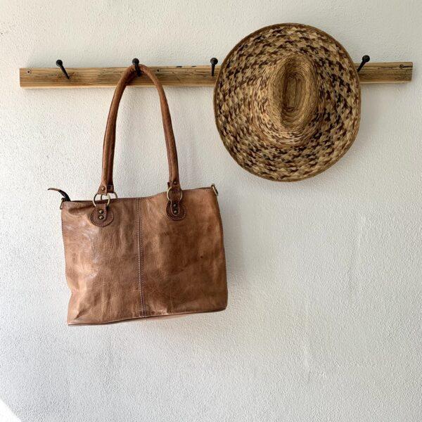 Håndlavet lædertaske - Mia