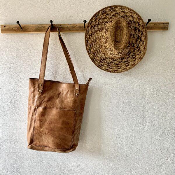 Håndlavet lædertaske - Becky